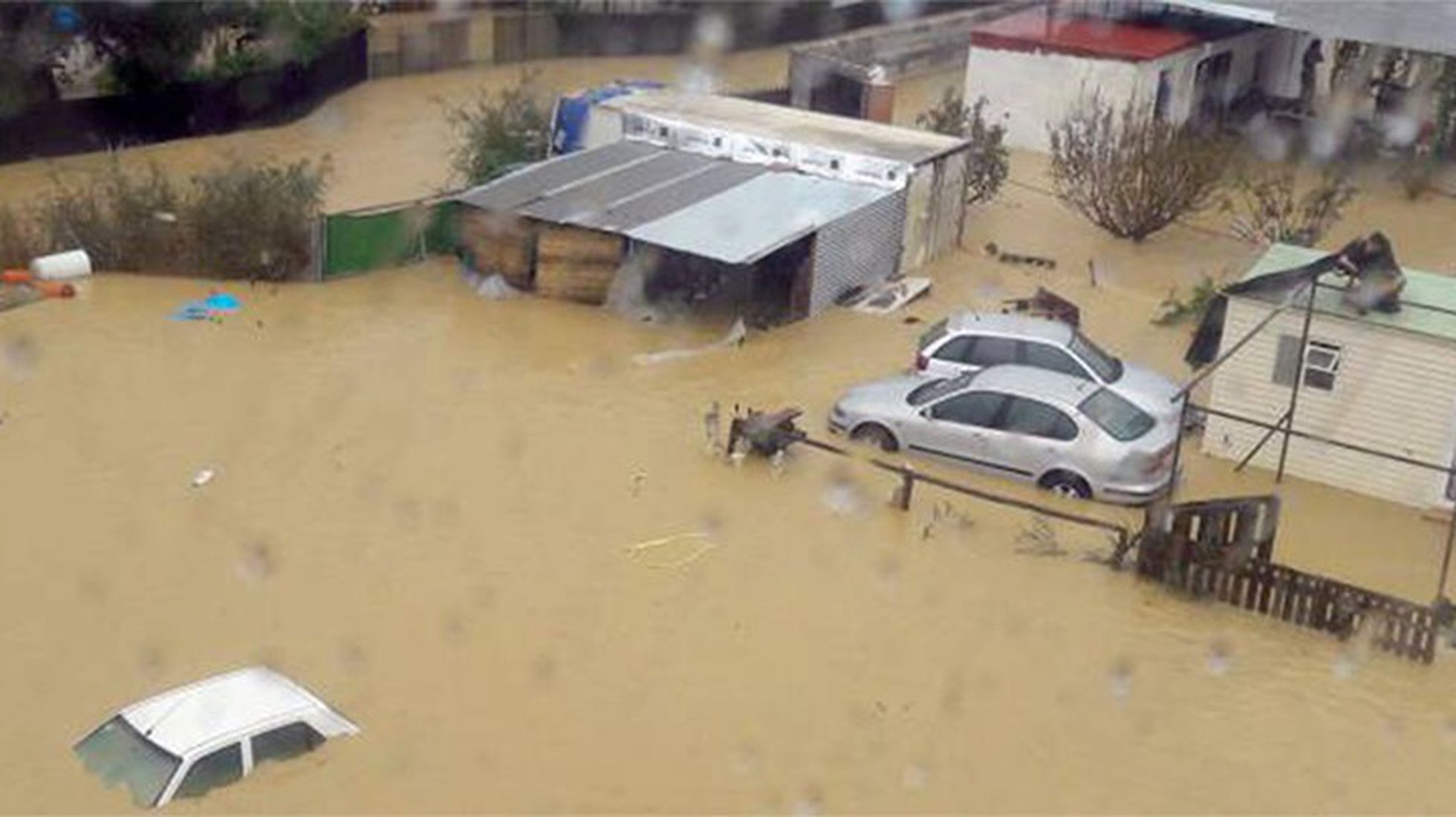 Destructive flooding washed away beaches in Spain